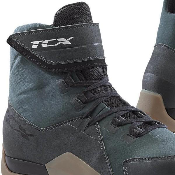 Motorradschuhe TCX District waterproof gunmetal