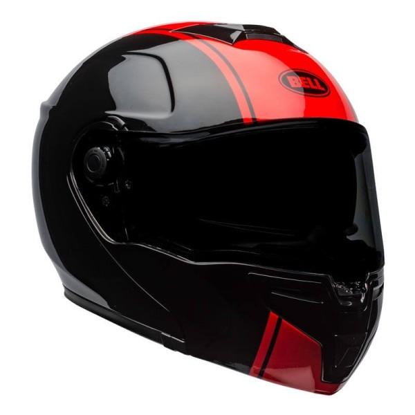 Casque modulable Bell SRT Ribbon noir rouge