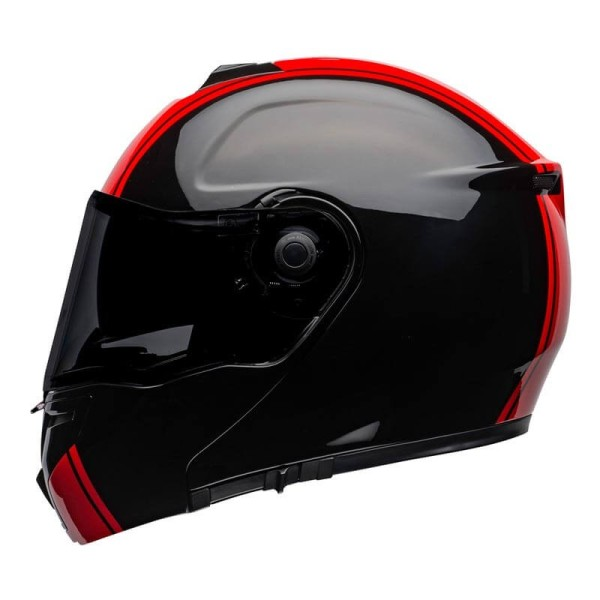 Casco modular Bell SRT Ribbon negro rojo