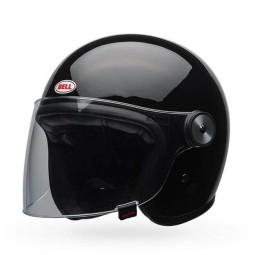 Jet Helmet Bell Riot gloss black ,Jet Helmets