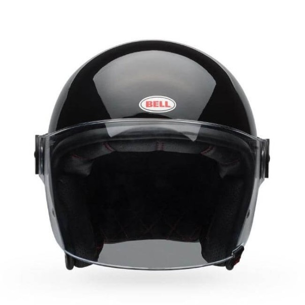 Casco moto Jet Bell Helmets Riot gloss black