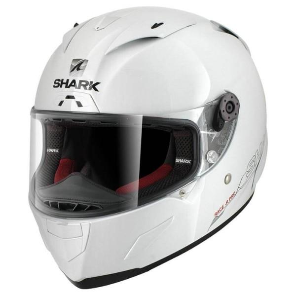 Casque moto Shark RACE-R PRO Blank blanc