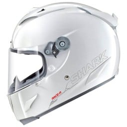 Shark RACE-R PRO Blank motorcycle helmet white, Full Face Helmets