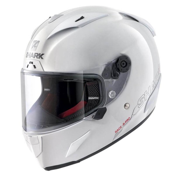 Casco de moto Shark RACE-R PRO Blank blanco