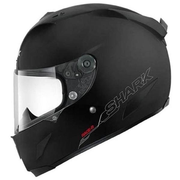 Shark Race-R PRO Blank Motorradhelm schwarz mat