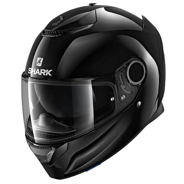 Shark Spartan Blank black motorcycle helmet
