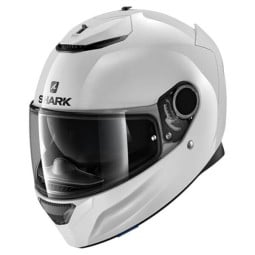 Shark Spartan Blank white motorcycle helmet, Full Face Helmets