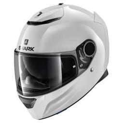 Shark Spartan Blank white motorcycle helmet