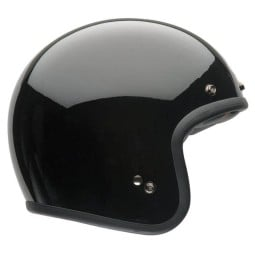 Casco Moto Vintage BELL HELMETS Custom 500 Solid Black
