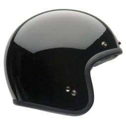 Motorcycle Helmet Vintage BELL HELMETS Custom 500 Solid Black ,Jet Helmets