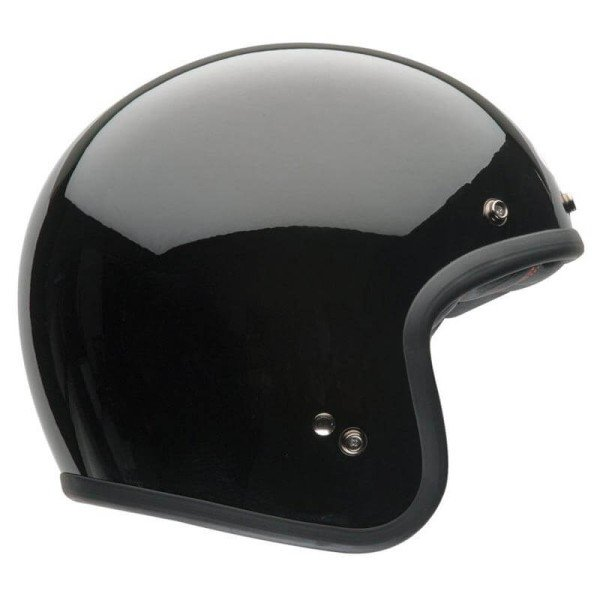 Casco Moto Vintage BELL HELMETS Custom 500 Solid Black, Caschi Jet