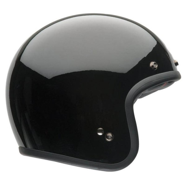 Motorrad Helm Vintage BELL HELMETS Custom 500 Solid Black