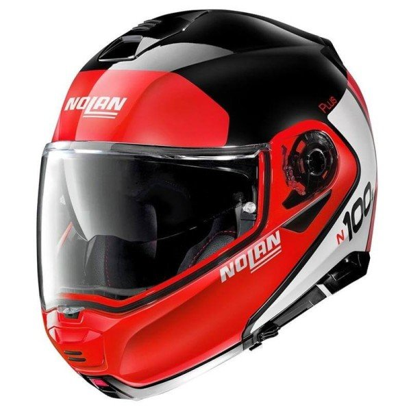Modularer Helm Nolan N100-5 Plus rot schwarz
