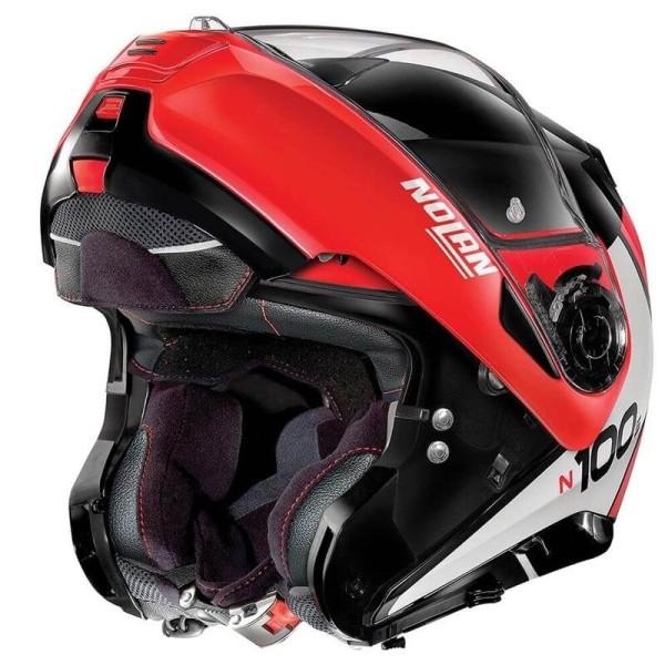 Casque modulable Nolan N100-5 Plus rouge noir