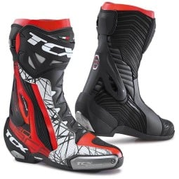 Motorcycle Boots TCX RT-Race Pro Air Black Red, Motorcycle Racing Boots