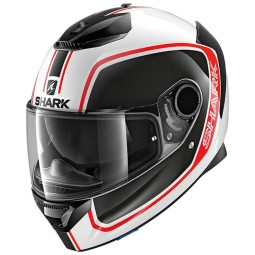 Casco Shark Spartan Priona white blue red, Caschi Integrali
