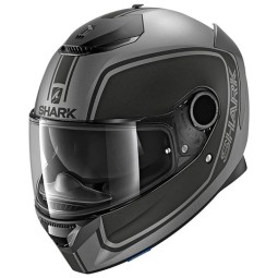 Casco de moto Shark Spartan Priona anthracite black