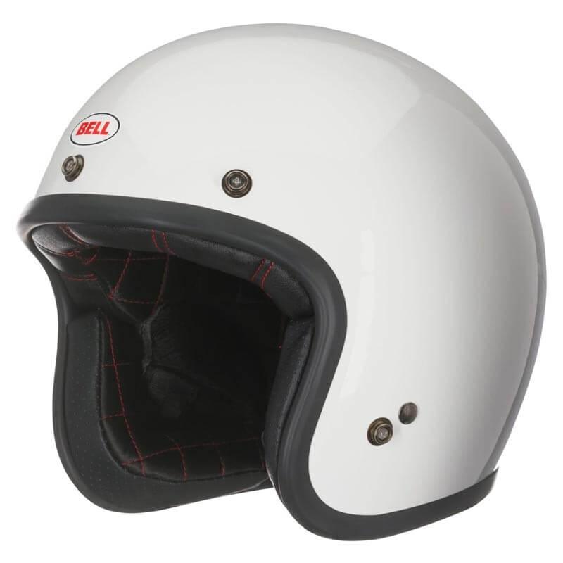 casque moto vintage bell helmets custom 500 white taille xs bell helmets bag. Black Bedroom Furniture Sets. Home Design Ideas