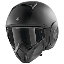 Shark helmet Street Drak Blank Mat black ,Jet Helmets