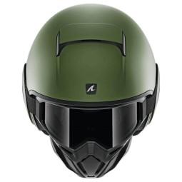 Shark helmet Street Drak Blank Mat green, Jet Helmets