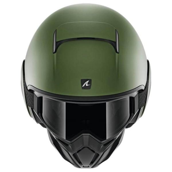 Casco de moto Shark Street Drak Blank Mat green