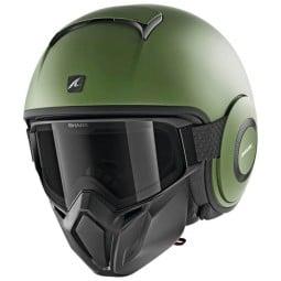 Casco de moto Shark Street Drak Blank Mat green, Cascos Jet