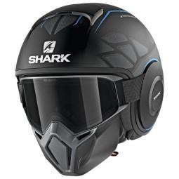 Casco de moto Shark Street Drak Hurok Mat black blue, Cascos Jet