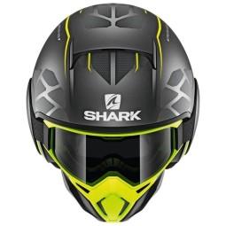 Casco de moto Shark Street Drak Hurok Mat black yellow, Cascos Jet