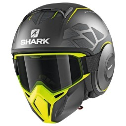 Casco Shark Street Drak Hurok Mat black yellow, Caschi Jet
