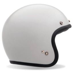Casque Moto Vintage BELL HELMETS Custom 500 White ,Casques Jet