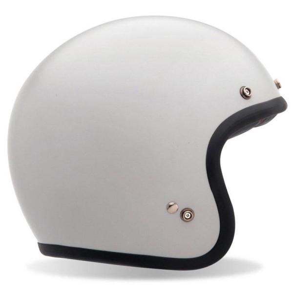 Motorrad Helm Vintage BELL HELMETS Custom 500 White