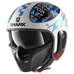 Shark helmet S-Drak 2 Tripp In white blue red ,Jet Helmets