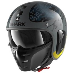 Casco Shark S-Drak 2 Tripp In Anthracite Yellow, Caschi Jet