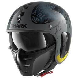 Shark helmet S-Drak 2 Tripp In Anthracite Yellow ,Jet Helmets
