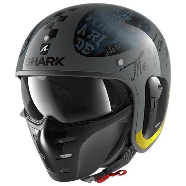Casco de moto Shark S-Drak 2 Tripp In Anthracite Yellow