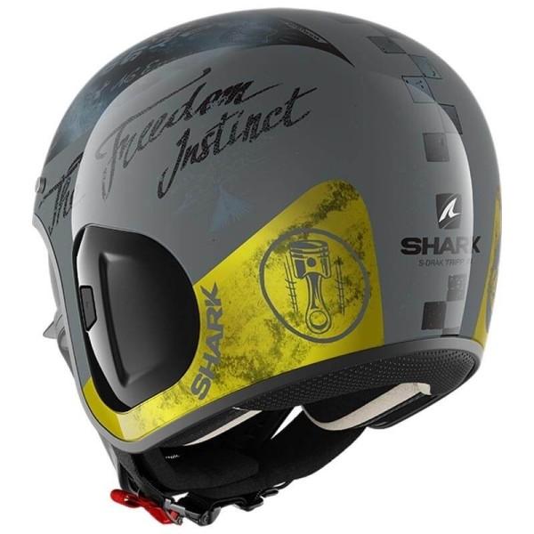 Shark helmet S-Drak 2 Tripp In Anthracite Yellow
