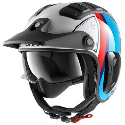 Shark helmet X-Drak 2 Terrence white blue red, Jet Helmets