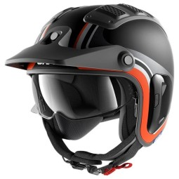 Casco Shark X-Drak 2 Hister black orange, Caschi Jet