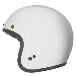 Casco Moto Vintage BELL HELMETS Custom 500 White, Caschi Jet