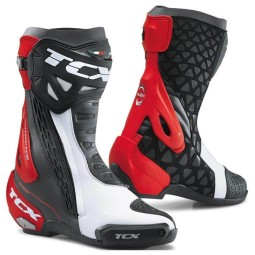 Motorcycle Boots TCX RT-Race Black White Red, Motorcycle Racing Boots