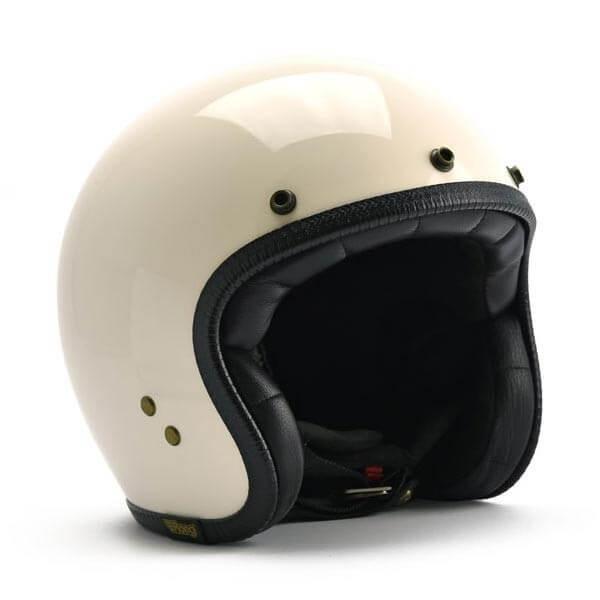 Casque moto Roeg Moto JETTson blanc retro