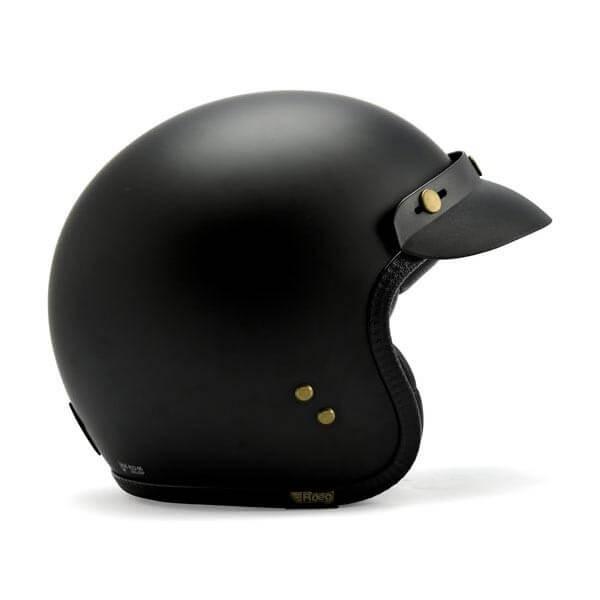 Casco jet moto Roeg Moto JETTson negro mate