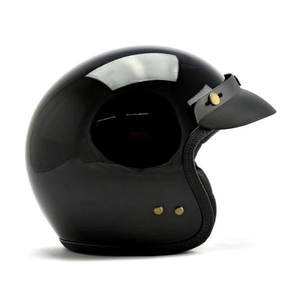 Roeg Moto JETTson helmet vintage gloss black