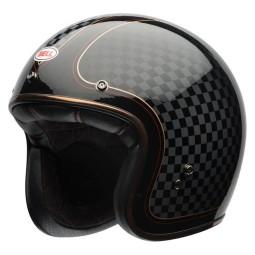 Motorcycle Helmet Vintage BELL HELMETS Custom 500 RSD Checkit ,Jet Helmets