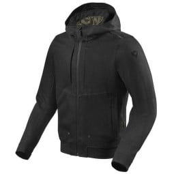 Motorcycle jacket Rev it Hoody Stealth 2 black ,Motorcycle Textile Jackets
