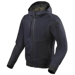 Motorcycle jacket Rev it Hoody Stealth 2 blue, Motorcycle Textile Jackets