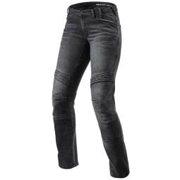 Motorrad Jeans Rev it Moto TF frau schwarz, Motorrad Jeans