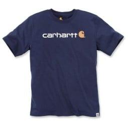 T-shirt Carhartt Core Logo blu, T-Shirts