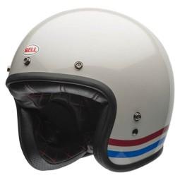 Motorrad Helm Vintage BELL HELMETS Custom 500 Stripes