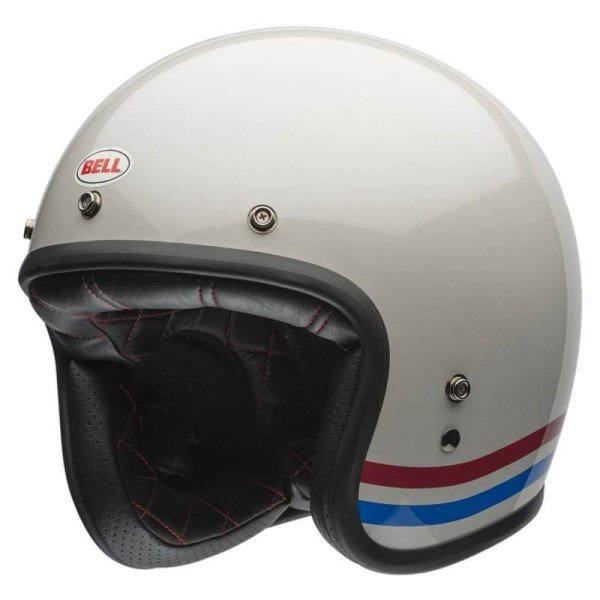 Casco Moto Vintage BELL HELMETS Custom 500 Stripes